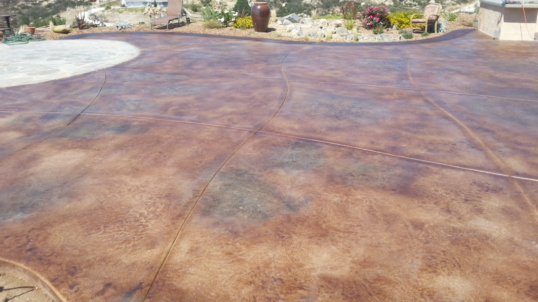 stained concrete after